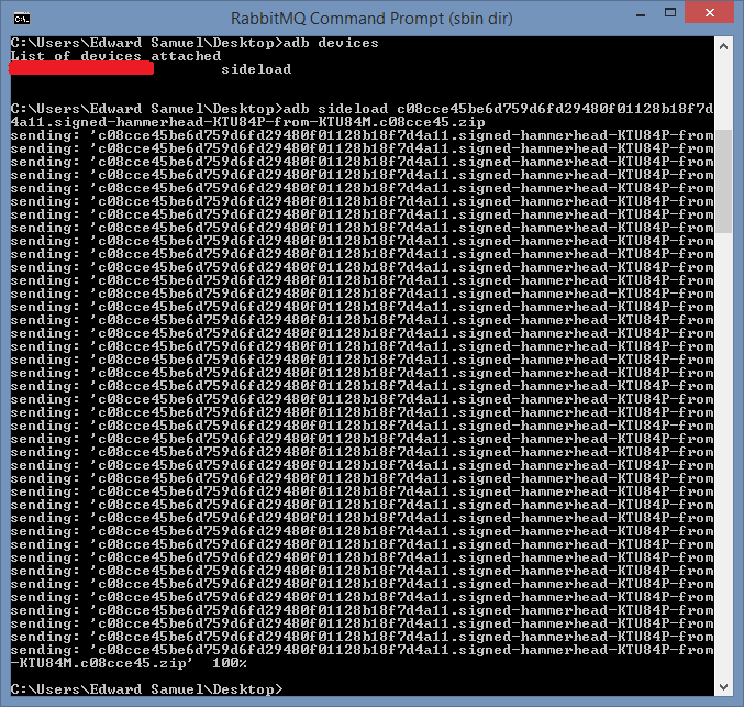 "Fixing adb ""Device not found"" with Nexus 5 devices in"